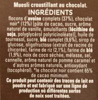 Cruesli Chocolate - Ingredients - fr