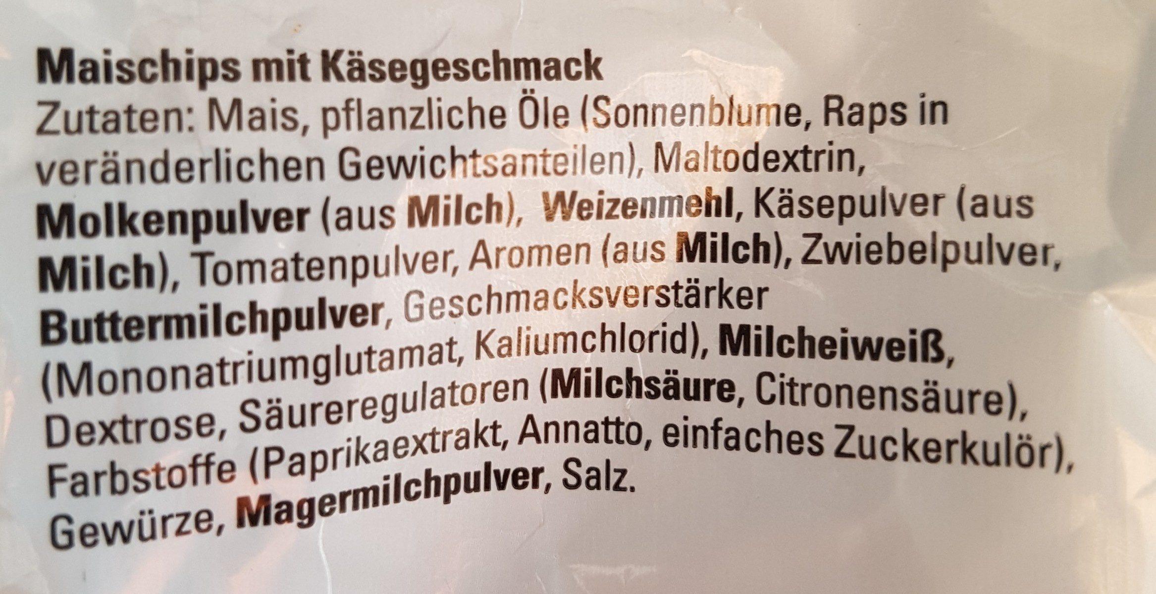 Nacho Cheese - Zutaten - de