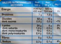 Tortillas Dippas Nature - Información nutricional - fr