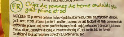 Superchips Salt'n Pepper 200G - Ingrediënten - fr
