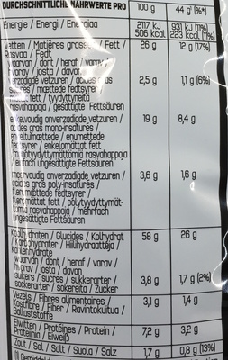 Cool American Flavour - Nutrition facts - fr