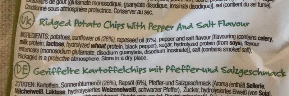 Super chips salt 'n pepper flavour - Ingredients - en