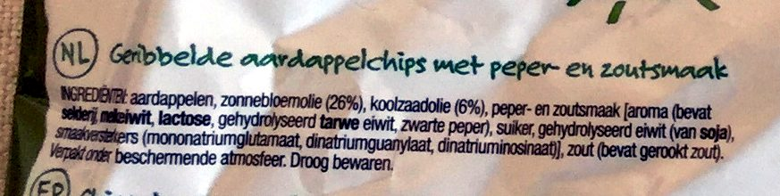 Super chips salt 'n pepper flavour - Ingrediënten - nl
