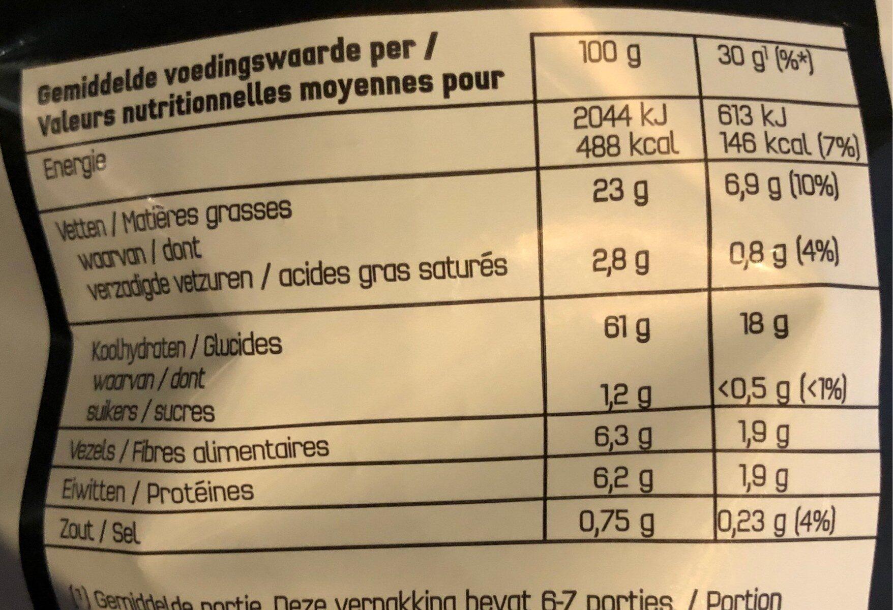Nature - Voedingswaarden - fr