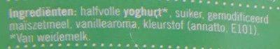 Verse halfvolle vanille yoghurt - Ingredients - nl