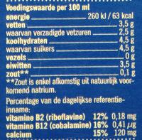 Verse Volle Melk - Voedingswaarden - nl