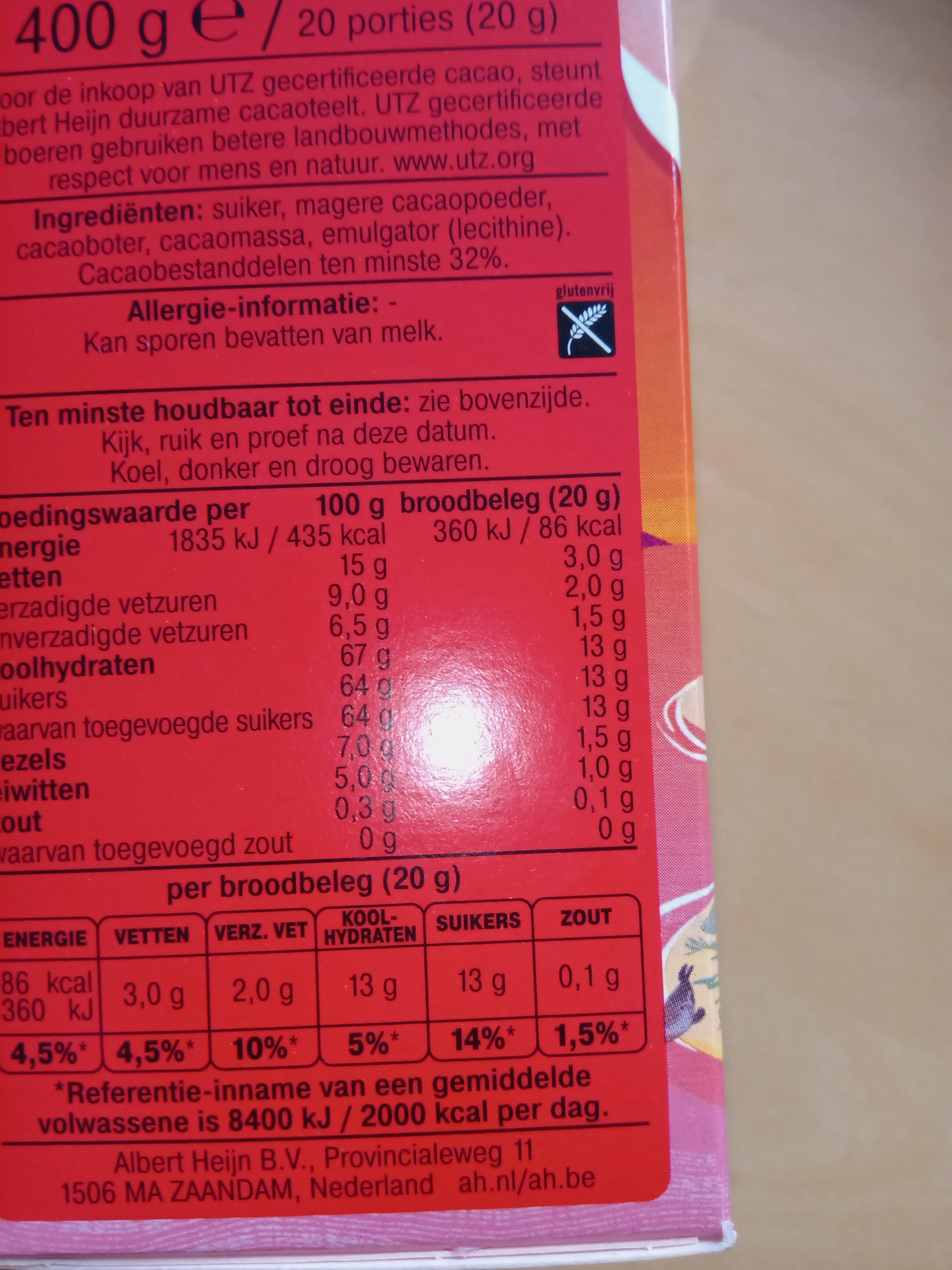 Pure hagelslag - Ingredients - nl