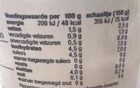 Halfvolle biogarde - Informations nutritionnelles - fr