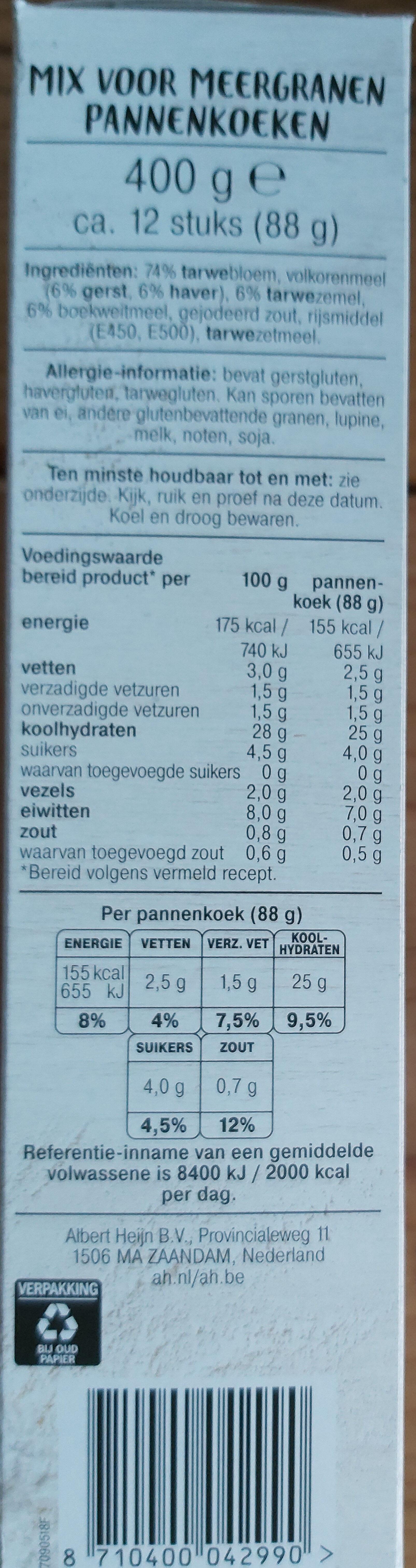 mix voor Pannenkoeken - Ingrediënten - nl