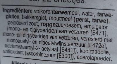 Zaans Volkoren - Ingredients - nl