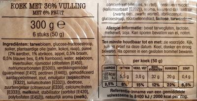 Vruchten koeken - Ingredients