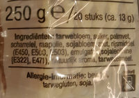 Galette Wafels - Ingrediënten - nl