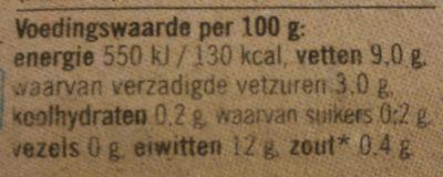 Scharreleieren - Voedingswaarden - nl