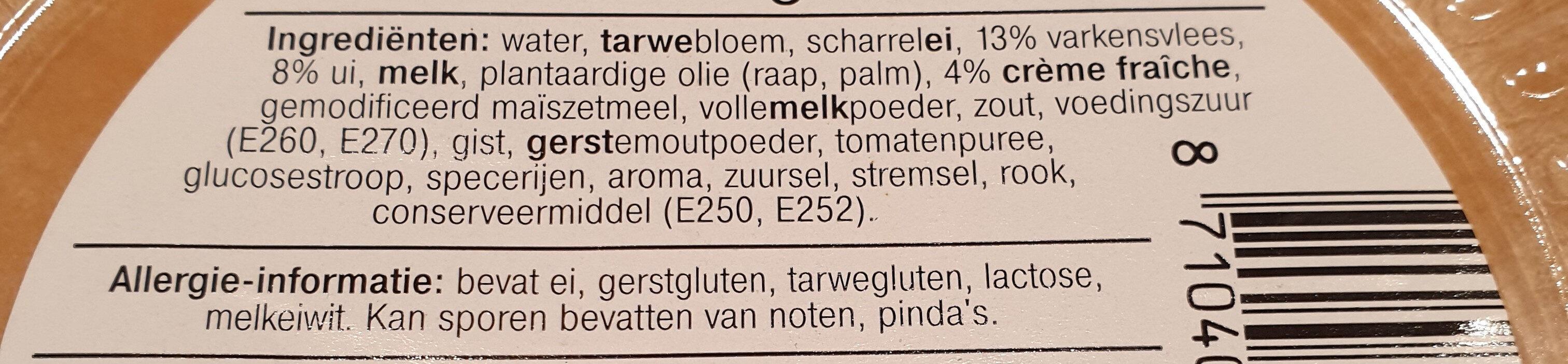 Quiche Lorraine - Ingredients - en