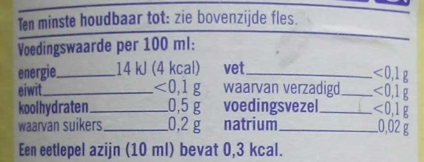 - Voedingswaarden - fr