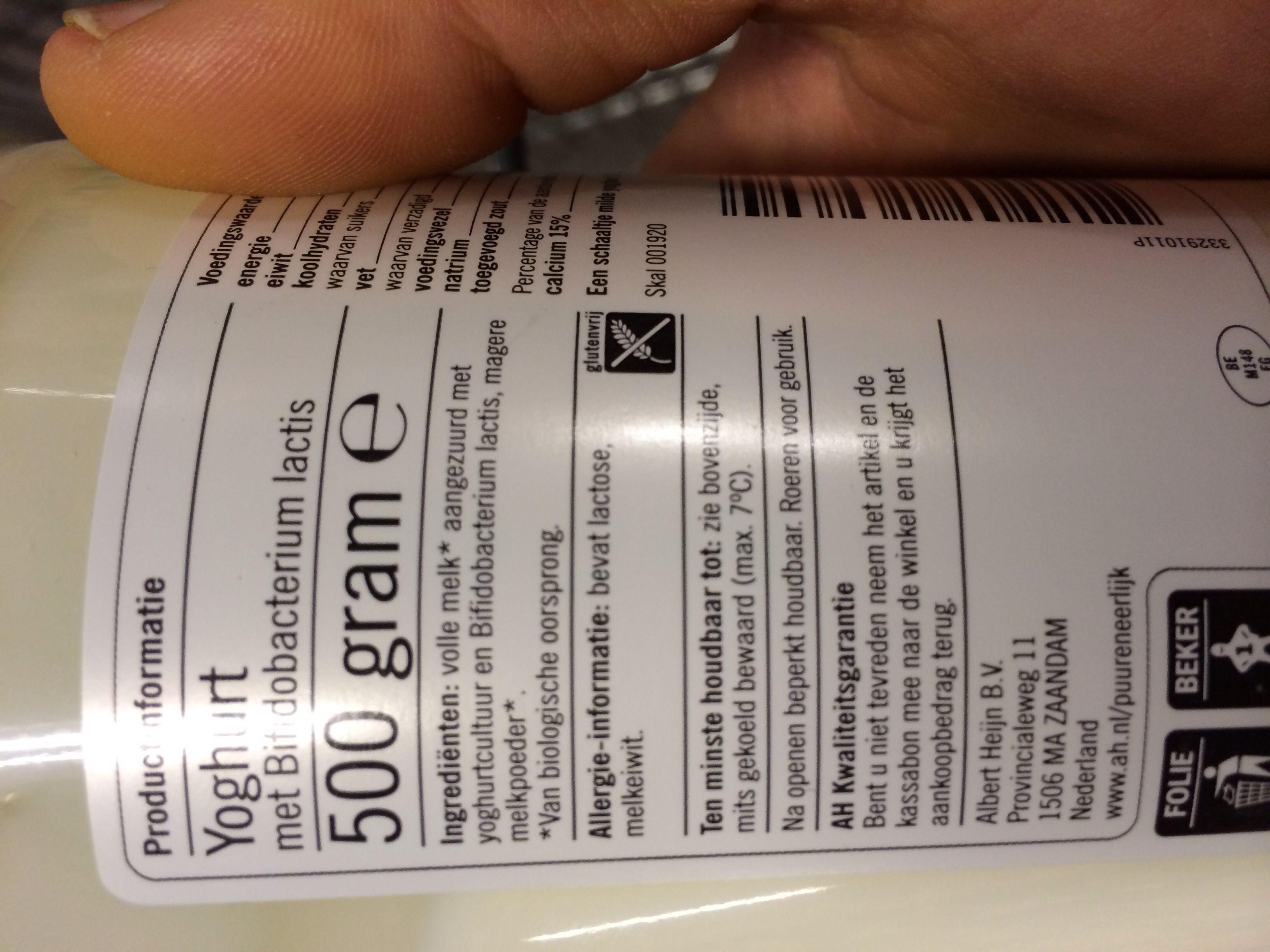 Volle Yoghurt AH - Ingredients