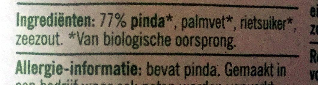 Biologische pindakaas met stukjes pinda - Ingredients - nl