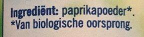 Paprikapoeder - Ingrediënten - nl