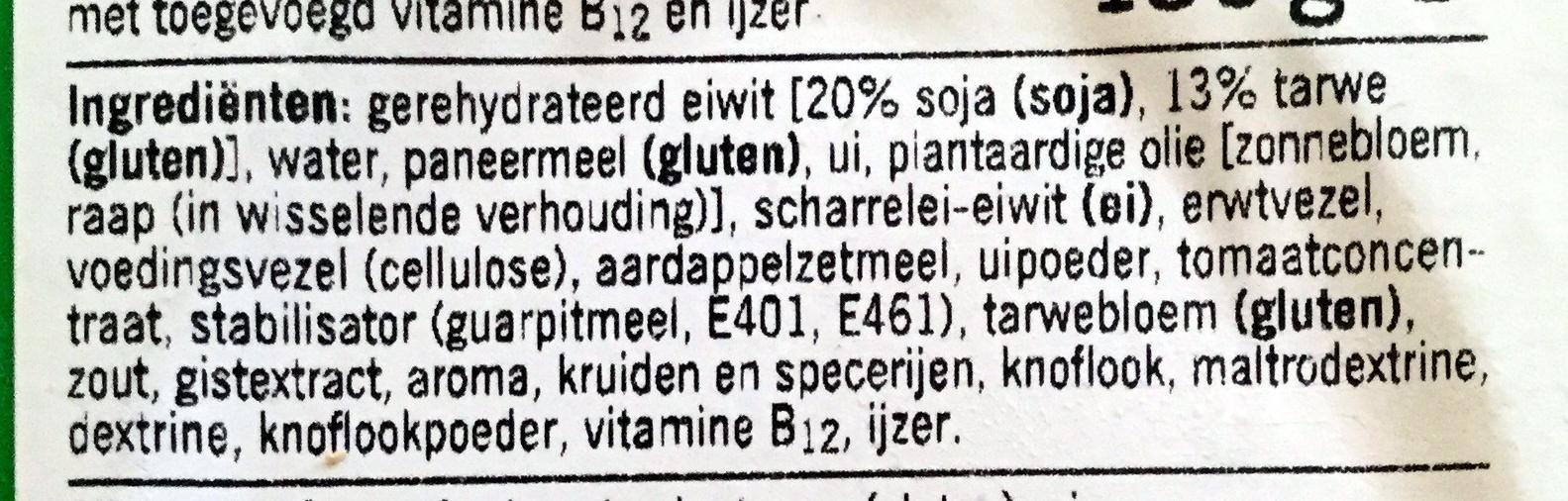 Krokante schnitzel - Ingrediënten - nl