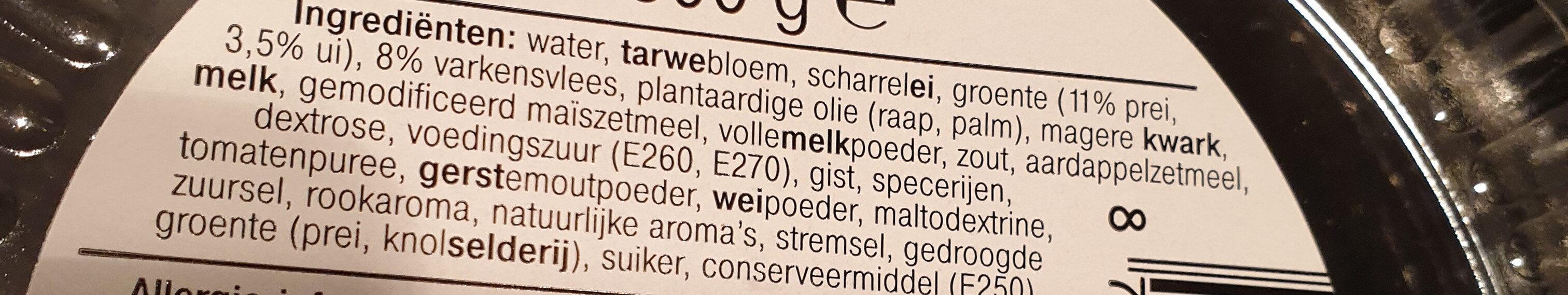 Quiche Ham Prei - Ingredients - nl