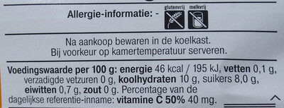 mandarijnen - Voedingswaarden - nl
