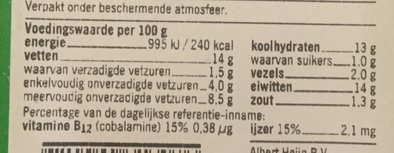 Krokante nuggets vegetarisch - Voedingswaarden