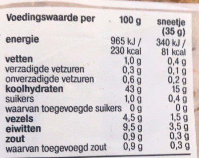 Tartine brun - Voedingswaarden - nl