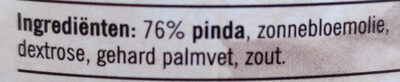 Pindakaas Naturel Pot 600 Gram - Ingredients - en