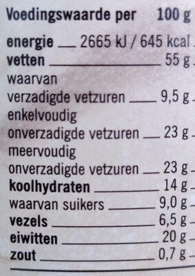Pindakaas Naturel Pot 600 Gram - Nutrition facts - en