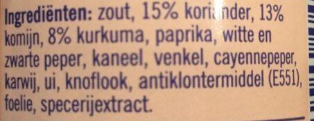 Shoarmakruiden - Ingredientes - nl