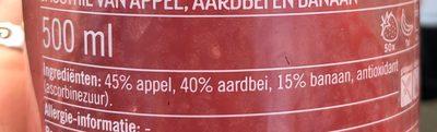 Smoothie Aardbei Banaan Fles 500 ml Koeling - Ingredients