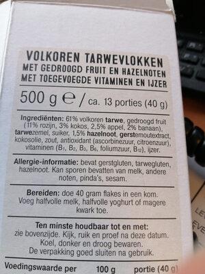 Bran Flakes Fruit - Ingrediënten - nl