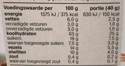 Bran Flakes Fruit - Voedingswaarden - nl