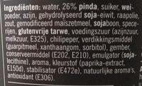Saté Kant & Klaar - Ingrediënten - nl
