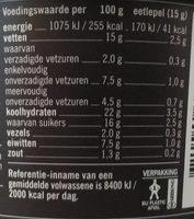 Saté Kant & Klaar - Voedingswaarden - nl