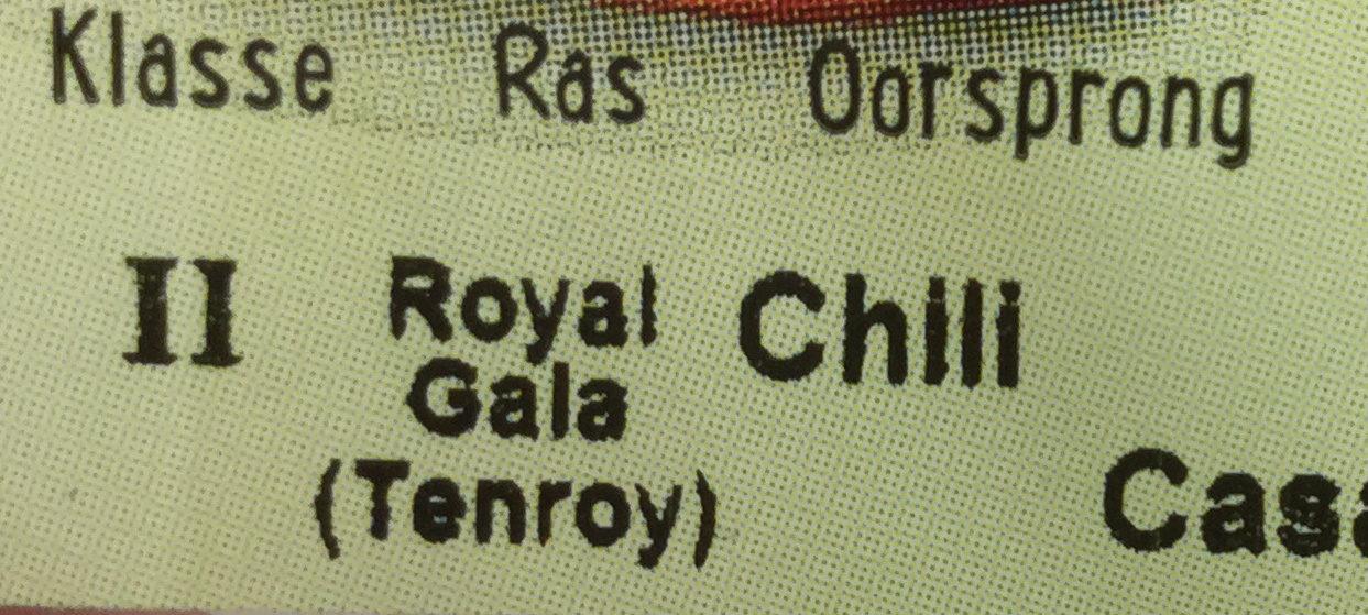 Biologische royal gala - Ingrediënten