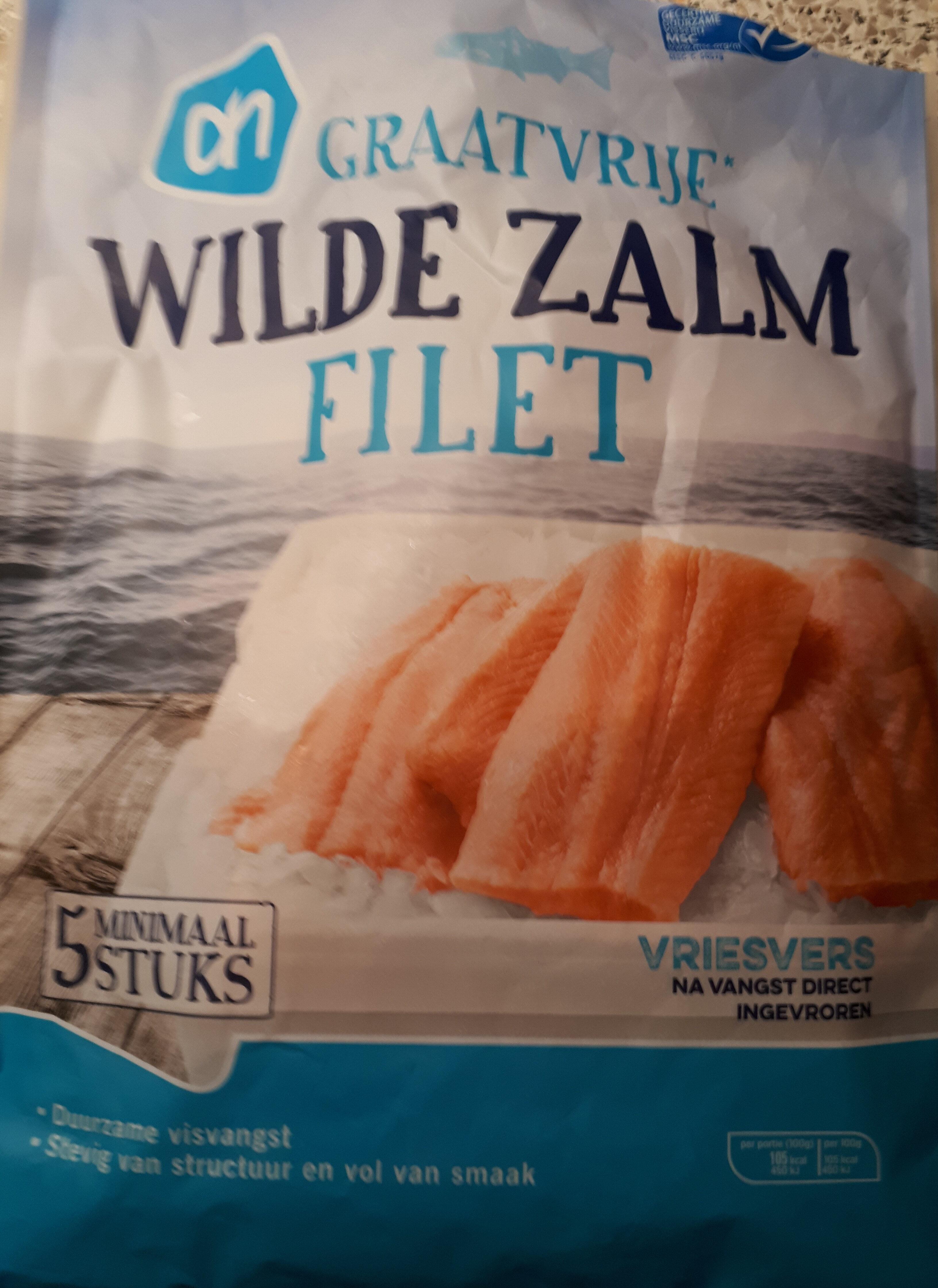 Wilde Zalm Filet Graatvrij Diepvries - Produit - nl