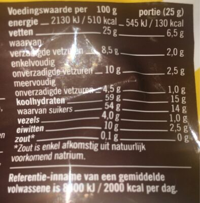 Pinda Choco's (M&M's) - Voedingswaarden - nl