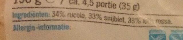 Rucola slamelange - Ingredients - nl