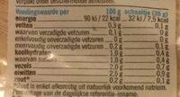 Rucola slamelange - Nutrition facts - nl