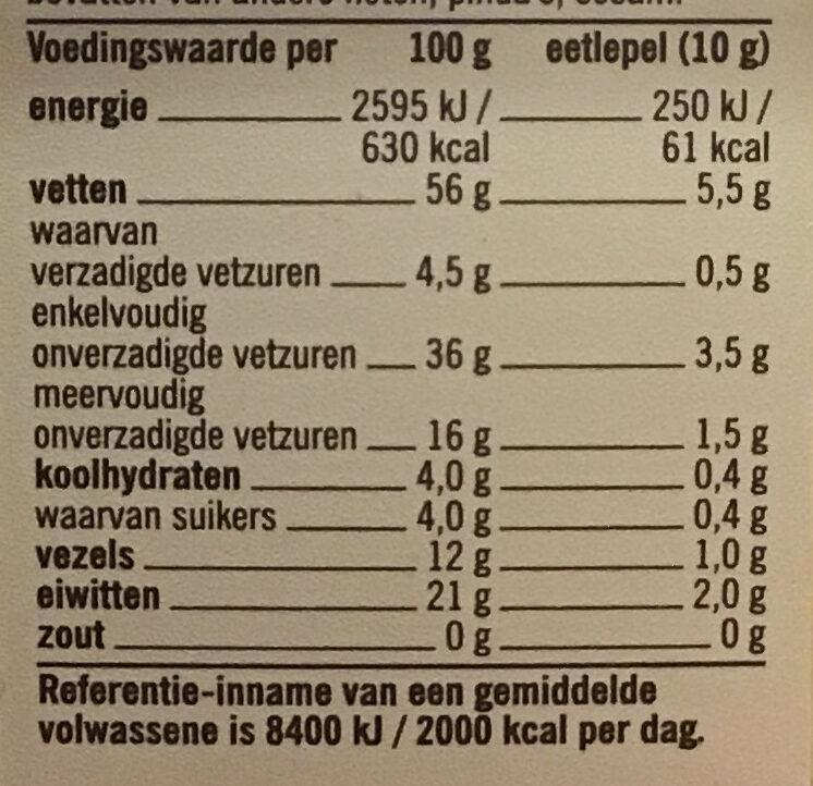 Amandelschaafsel - Voedingswaarden - nl