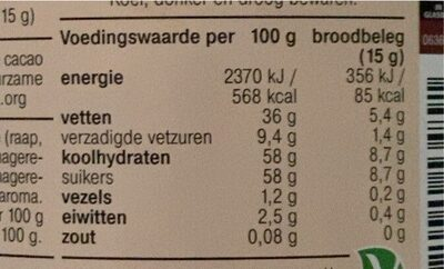 AH duo hazelnoot wit pasta - Informations nutritionnelles - fr