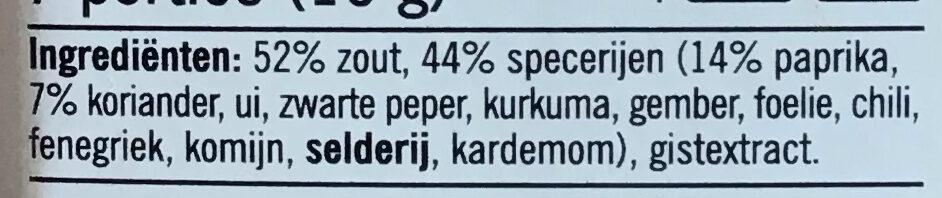 Kruidemix voor Kip - Ingrediënten