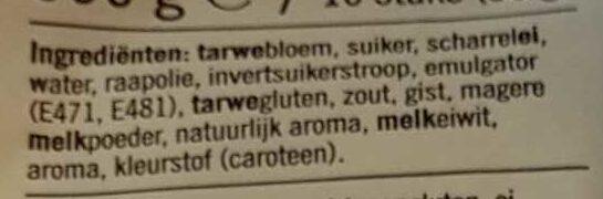 Melk-Broodjes - Ingrediënten - nl