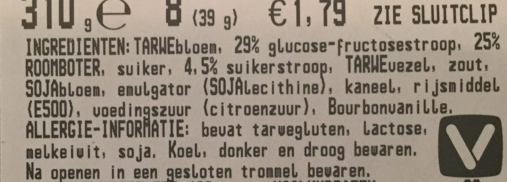 Stroopwafels - Ingredients - nl