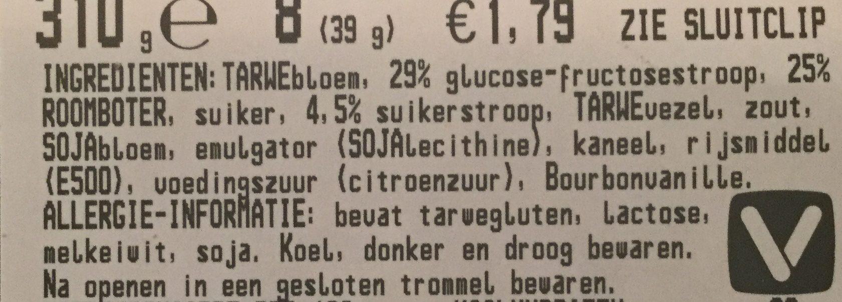 Stroopwafels - Ingrediënten
