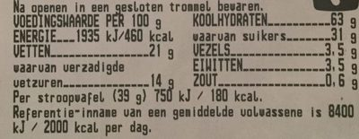 Stroopwafels - Nutrition facts - nl
