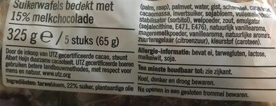 Albert Heijn Choco Luikse Wafels - Ingrédients