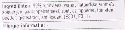 BBQ Runder Hamburger - Ingrediënten - nl