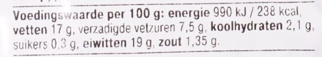 BBQ Runder Hamburger - Voedingswaarden - nl